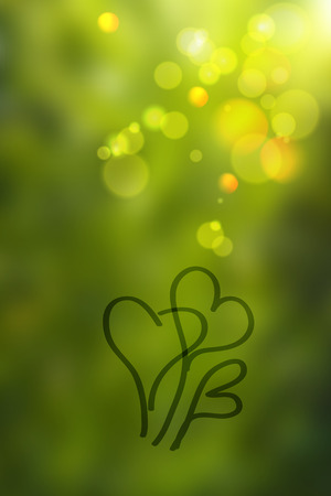 Green abstract blurred background photo