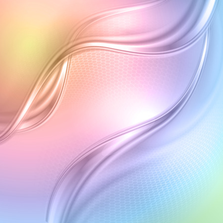 Abstract colorful wave background. Vector.  Vector