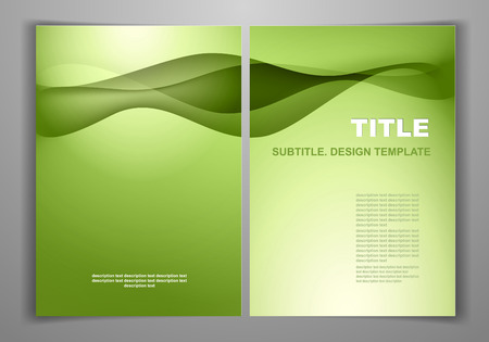 Green Business Front and Back Flyer Template Vector