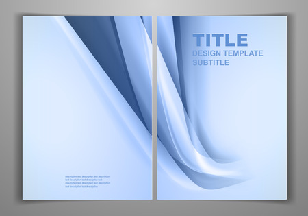 smooth shadow: Blue Business Front and Back Flyer Template