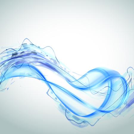 swirl backgrounds: Abstract blue water splash isolato su sfondo bianco. Illustrazione vettoriale