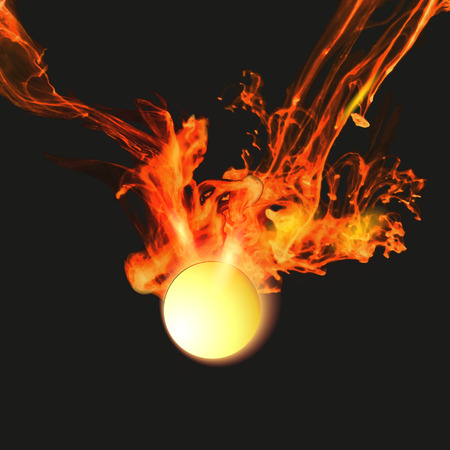Abstract background with vector fire Vector