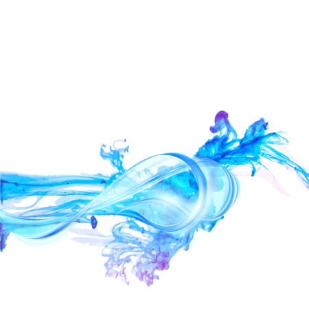 water splash isolated on white background: Abstract blue water splash isolated on white background. Vector illustration