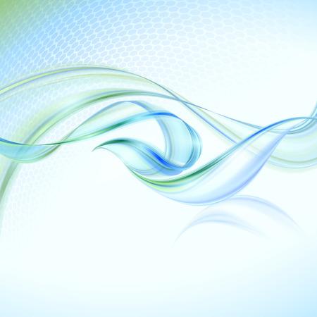 푸른 요소와 추상 흔들며 배경