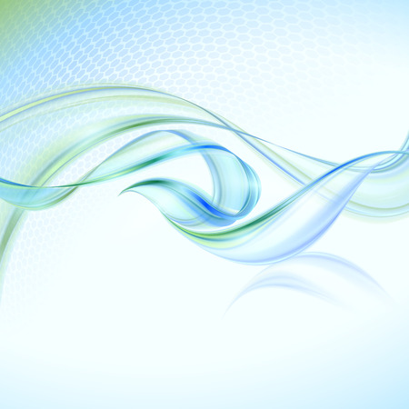 Abstract waving background with blue element