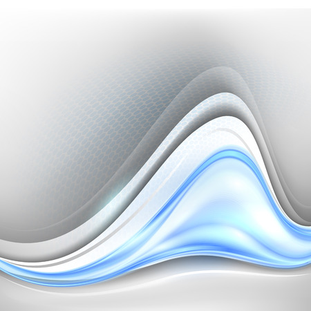 year curve: Abstract blue winter background