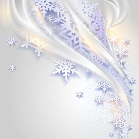 cold background: Abstract blue winter background with snowflakes