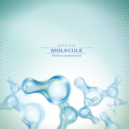 Moleculen abstracte achtergrond Stock Illustratie