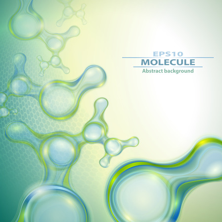 healthy people: Molecules abstract background