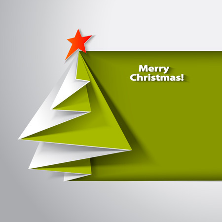 Christmas tree card origami