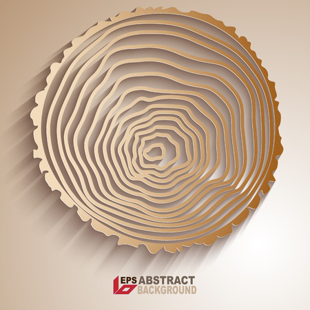 Paper desing. Abstract tree rings background. Ilustração