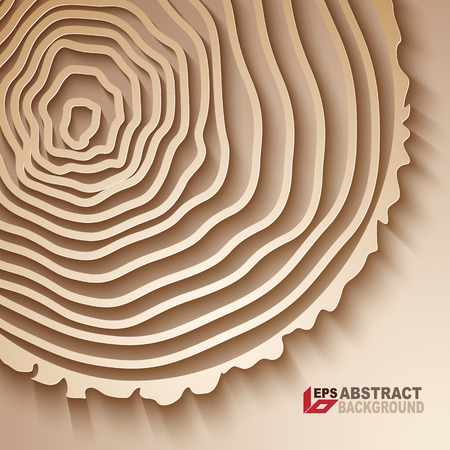 rings on a tree: Paper desing. Abstract tree rings background. Illustration