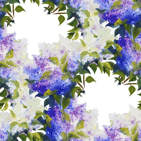 magnificence: Spring flowers seamless pattern background