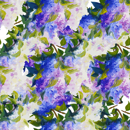 sateen: Spring flowers seamless pattern background