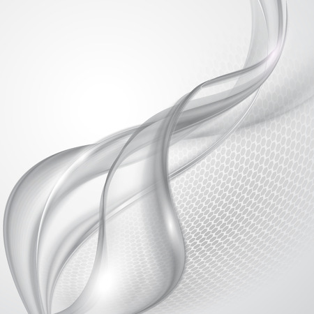 smooth curve design: Abstract gray wave background