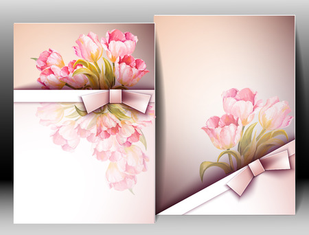 editable invitation: Spring flowers invitation template card. Easter, wedding, marriage, bridal, birthday, Valentine