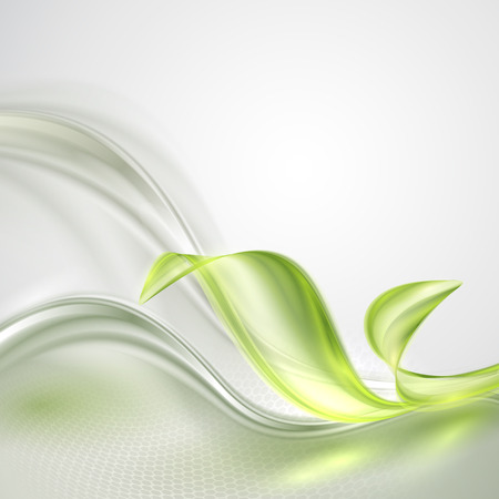 Abstract wave spring green gray background