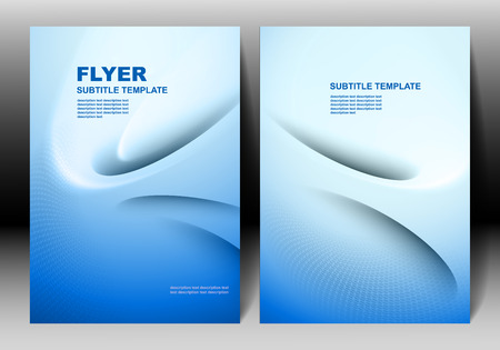 background cover: Vector brochure template blue design