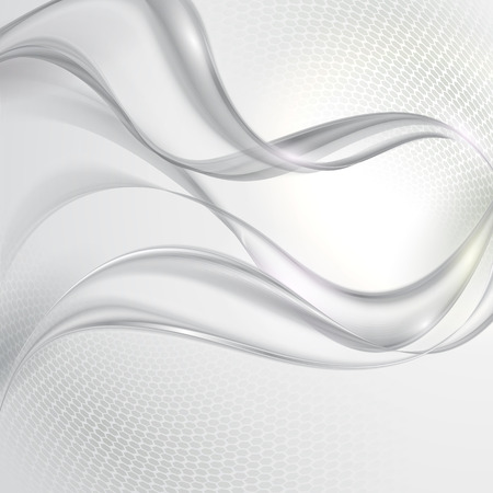 Abstract gray transparent wave background