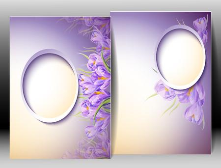Spring flowers invitation template card. Easter, wedding, marriage, bridal, birthday, Valentine