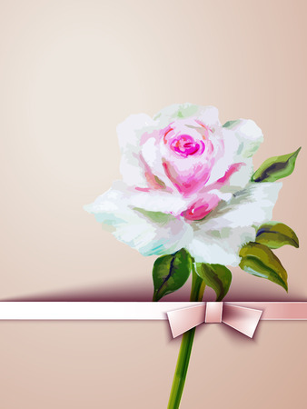 magnificence: Decorative floral background with flowers of rose Illustration