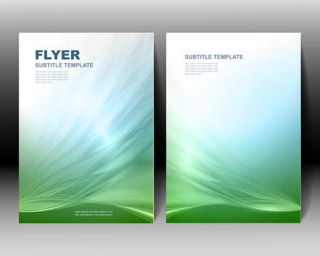 ベクトル パンフレット テンプレート グリーン デザイン
