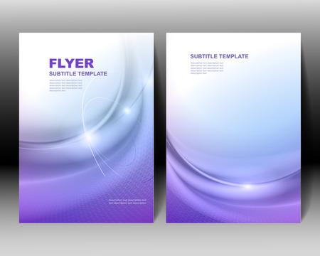 Vector brochure template blue design