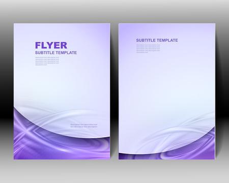 Vector brochure modèle de conception bleue Vecteurs