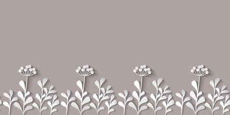 野生の花模様の紙  イラスト・ベクター素材