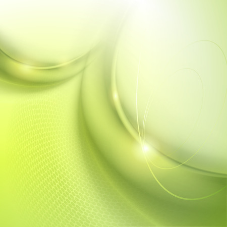 background green: Abstract green wave vector background