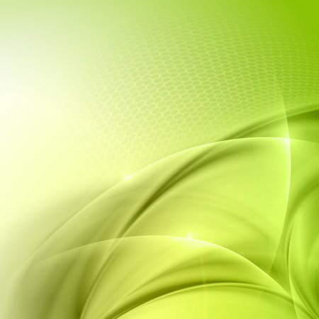 abstract background vector: Abstract green wave vector background