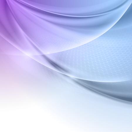 abstract vector: Abstracte blauwe paarse wave vector achtergrond