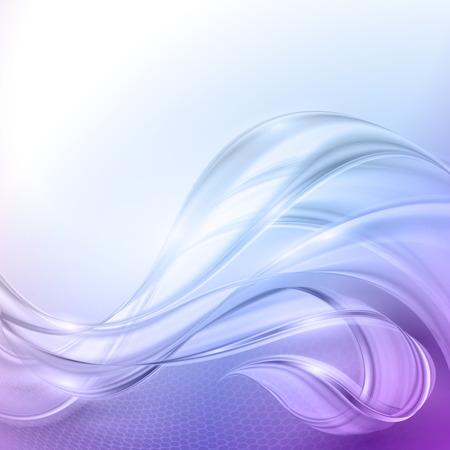 Abstracte blauwe paarse wave vector achtergrond