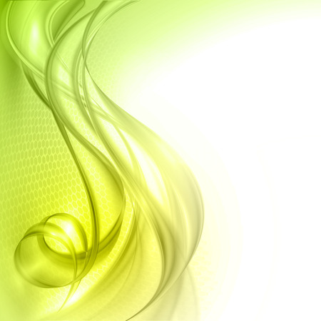 green wave: Abstract green wave vector background