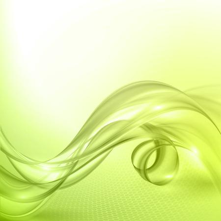 Vector de onda de fondo verde abstracto