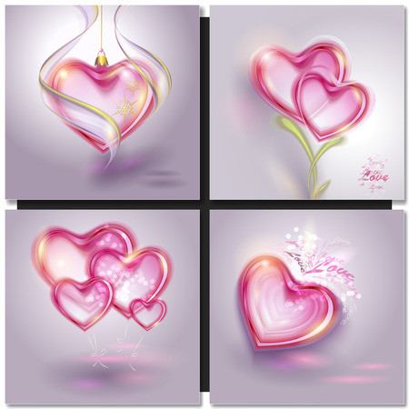 dreamy: Vector illustration of shiny bubble heart. Valentines day card