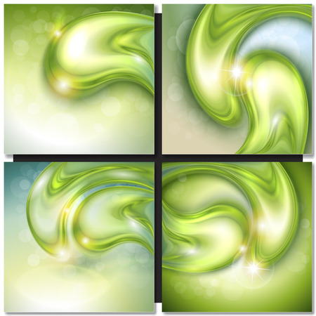drops of water: Abstract background with green water drops, vector. Illustration