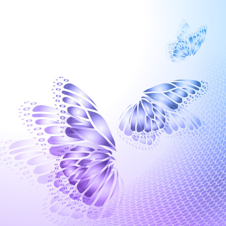 purple background: Abstract blue  purple background with  butterfly wings Illustration
