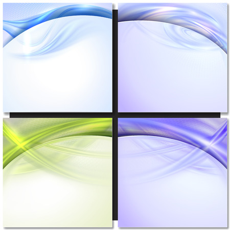 abstract green: Abstract green and blue wave background with design element