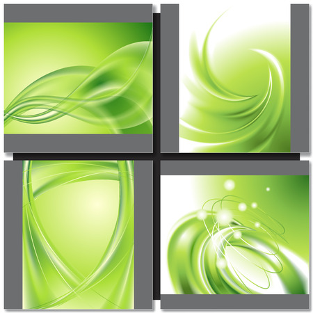 colorful abstract background: Abstract greenwave background with design element Illustration