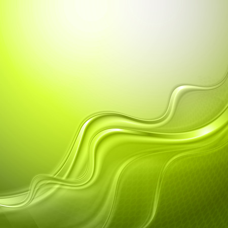 background green: Green abstract wave light background Illustration