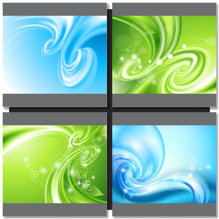 green swirl: Abstract blue and green background with swirl Illustration