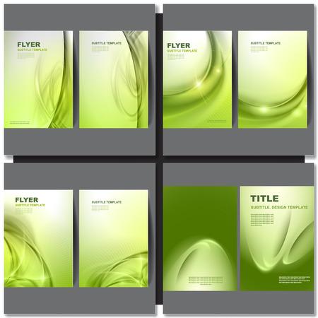 background green: Vector brochure template green design