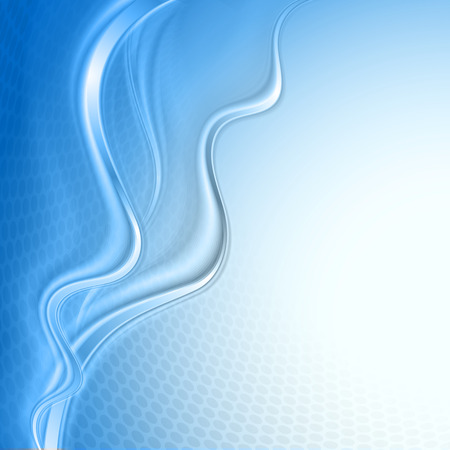 Blue abstract wave light background