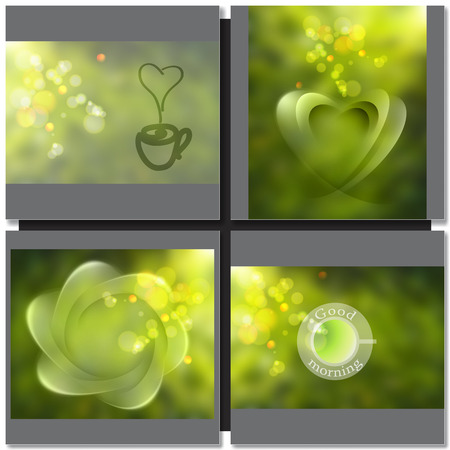steam of a leaf: green tea abstract background Illustration