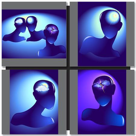 cabeza femenina: Silueta de una ilustraci�n cabeza femenina Vectores