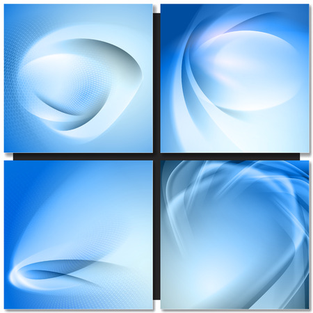 abstrakt: Abstrakt blue wave swirl background