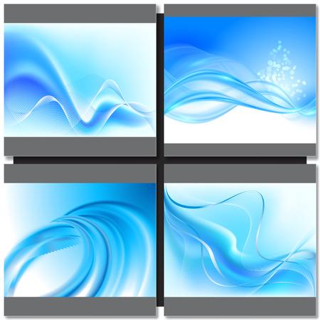swirl background: Abstrakt blue wave swirl background