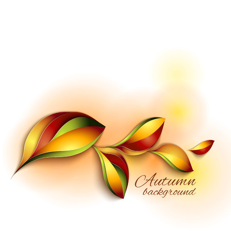 colorful frame: Autumn abstract vector background. Orange and red color leaves. Paper design