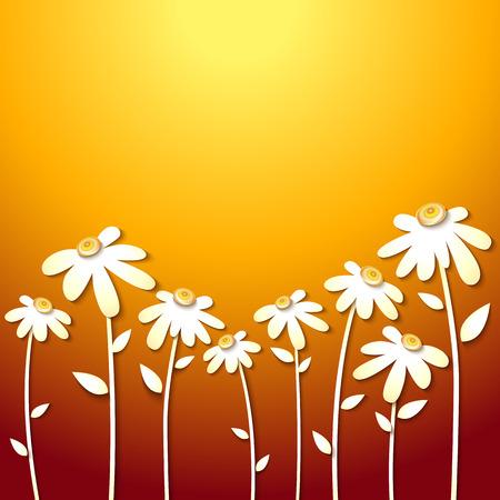 autumn flowers: Beautiful Autumn Flowers yellow Background. Paper design